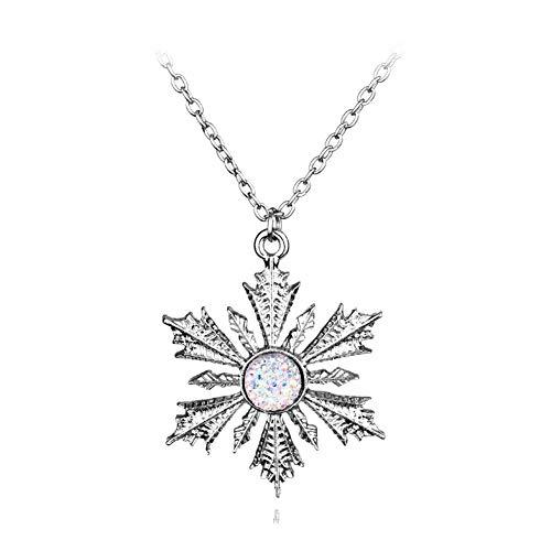 Accesorios Joyería Pendiente de Cristal de la Manera del Copo de Nieve Colgante for Las Mujeres Collar Regalo