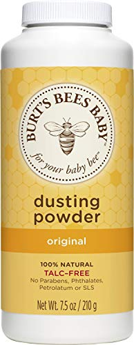 Burt's Bees Baby 100% Natural Dusting Powder, Talc-Free Baby Powder - 7.5 Ounces Bottle - Pack of 3