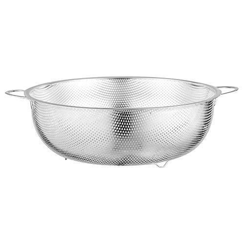 Multifunctional Stainless Steel Drainer Basket with Handle Metal Fine Mesh Colander for Kitchen Sink Steamer Vegetable Food Strainers Instant Pot Drainer Basket (M φ22.5CM)