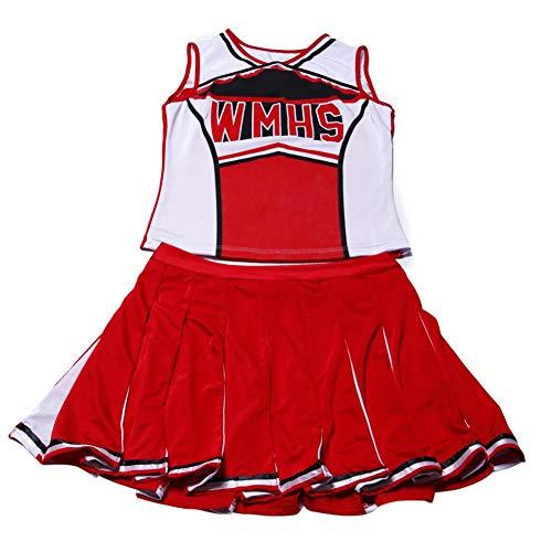 Gyratedream Damen Sexy Varsity High School Cheer Girl Sexy Cheerleader Kostüm Uniform Halloween Kostüm