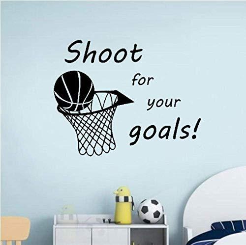 Lucha Por El Gol Baloncesto Oferta Vinilo Pared Calcomanía Pegatina Arte Decoración Dormitorio Diseño Mural Niño Habitación Decoración Diy 52X42Cm