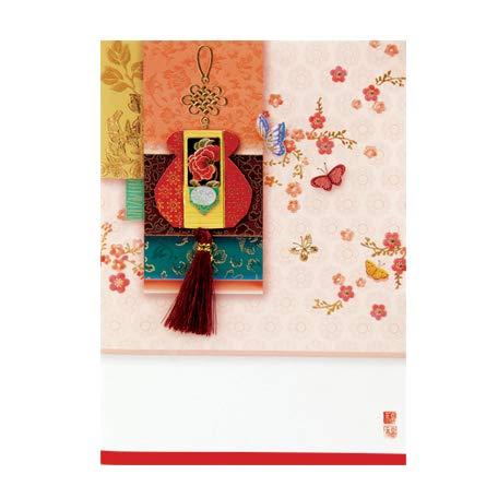 韓国 メッセージカード (カード兼年賀状)福チュモニ1■messagecard-ft223-1-s【ギフト】【お土産】