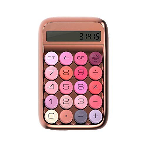 QuRong rekenmachine, meisjes, snoepgoed, kleur grote knop, mechanische rekenmachine, tafelrekenmachine, kantoorgebruik, desktop computer