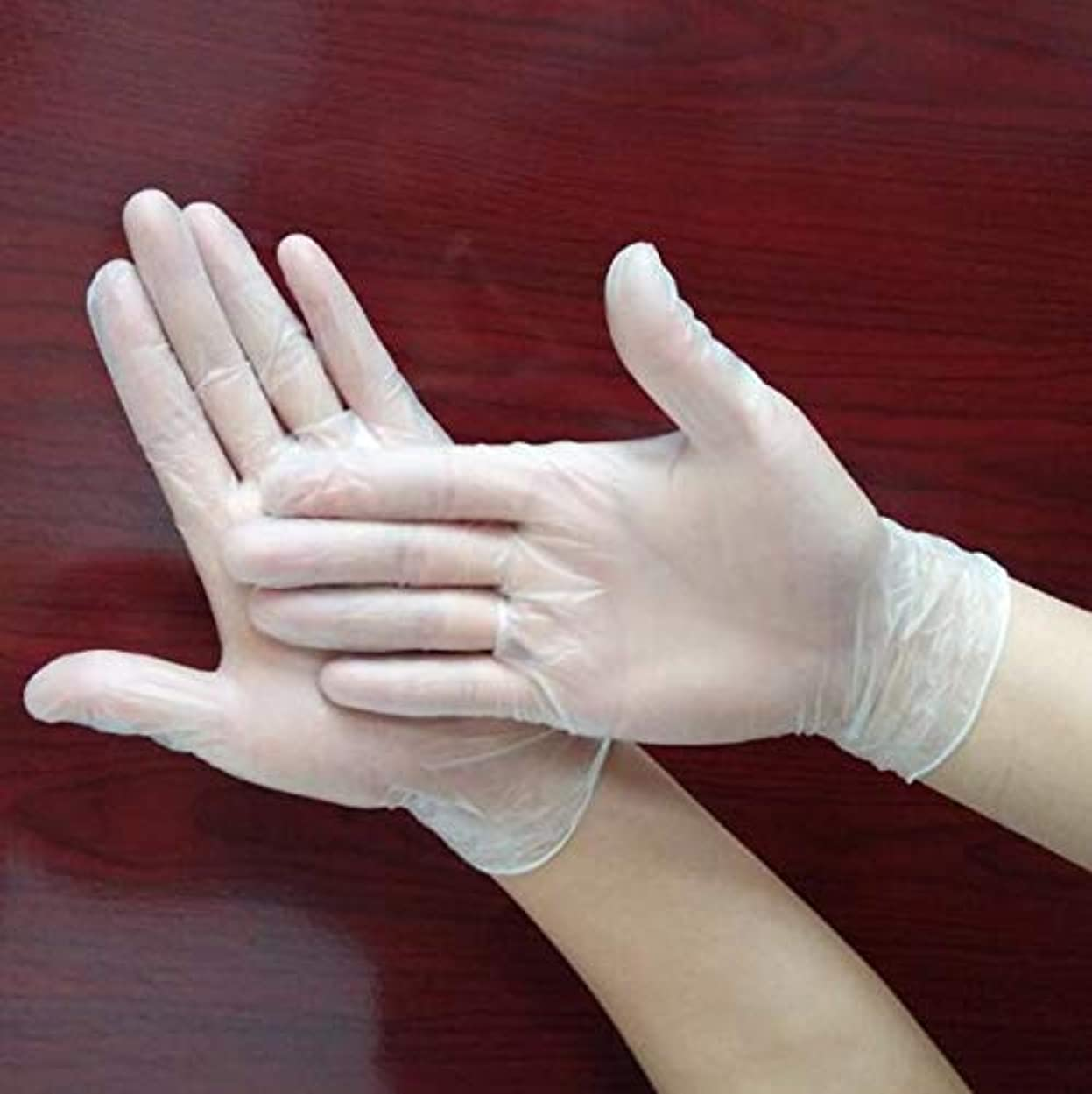 仮称宣言するシガレットハッピー 使い捨てPVC手袋 ベルテプラテ 使い捨て手袋 PVCグローブ 粉なし パウダーフリー 左右兼用 (M)