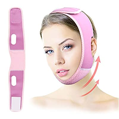 Bud K's Reusable V Line Facial Slimming Strap, Face Lifting Belt, Double Chin Reducer Strap, V Line Lifting Chin Shaped Belt for Women Face Skin Lifting Firming Anti Aging