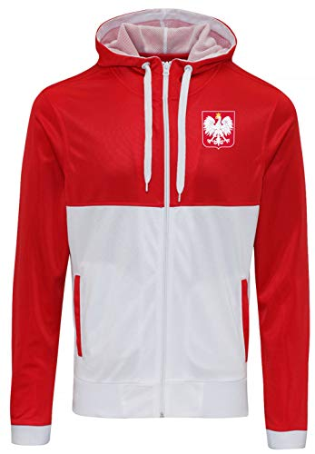 Nation Polen Sweatshirt Sport Pullover Track Zoodie R-W (M)