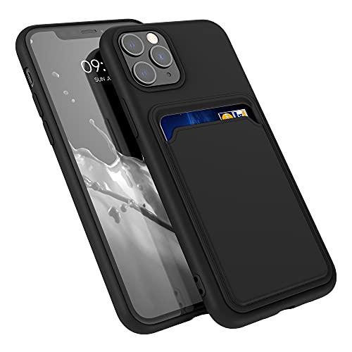 kwmobile Funda con Tarjetero Compatible con Apple iPhone 11 Pro - Carcasa Protectora de TPU Suave - Negro
