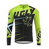 Uglyfrog Maillot Ciclismo Manga Larga Hombre Otoño Camiseta Bicicleta Ropa MTB Secado Rápido CXML01