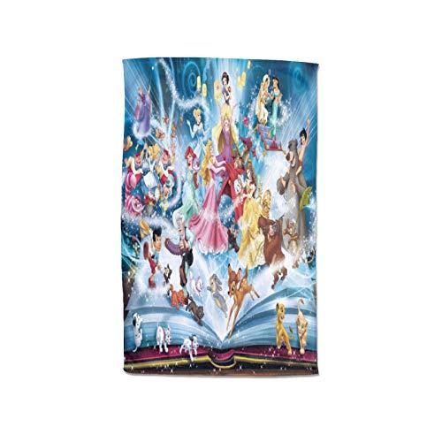 Disney Characters - Toalla para mujer, 100 % algodón, muy absorbente, toalla de pareo, toalla de ducha, spa, sauna, playa, gimnasio, toalla