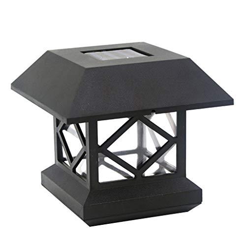 BINGHONG3 Solarleuchten, elektronischer Solarzaun Pfostenkappe Lichter Outdoor Garten LED Post Deck Auto Sensor Licht Landschaft Lampe