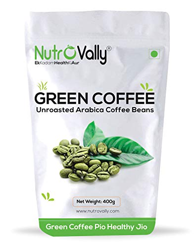 NutroVally green coffee beans for weight loss fast Unroasted Arabica Natural Immunity Booster (green coffee beans) – 400g