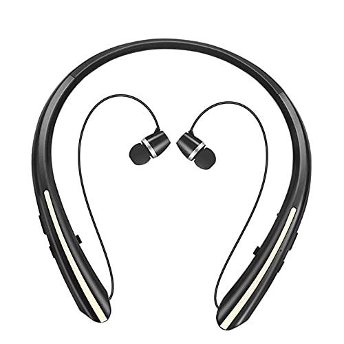 prasku Auriculares Estéreo Inalámbricos con Bluetooth para Auriculares con Micrófono Y Banda para El Cuello Sport - Oro