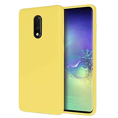 AChris Funda Samsung Galaxy A6 Plus (2018) Silicona Líquida Ultra-Suave Protector Carcasa Anti-Choque Ultra-Delgado Resistente a Arañazos Carcasa Trasera para Samsung A6 Plus (2018), Limon Amarillo