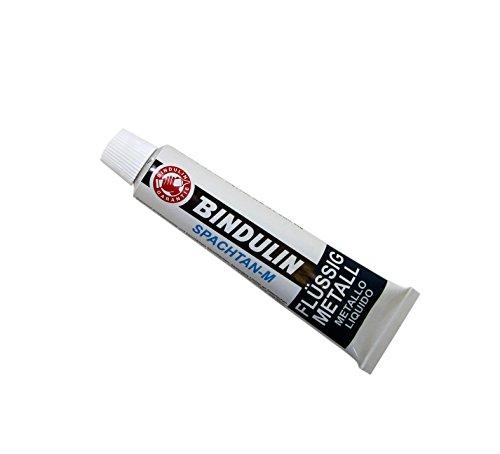 Flüssig-Metall 60g Tube Repariert Metallflächen Löcher am Kfz Säurefest ölfest temperaturbeständig bis ca. +150°C, lässt sich wie Metall bearbeiten: schleifen, feilen, bohren polieren, lackieren