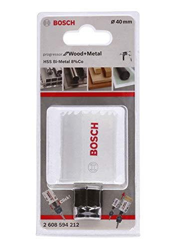 Bosch Professional Lochsäge Progressor for Wood & Metal (Holz und Metall, Ø 40 mm, Zubehör Bohrmaschine)
