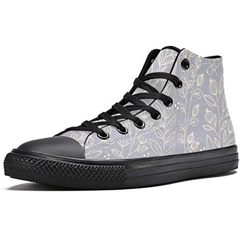 LORVIES Light Gray Floral Patterns-0 - Zapatillas de deporte para hombre, (multicolor), 40 EU