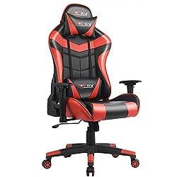 HeiPard Gaming Stuhl Racing Stuhl Ergonomisches Design Höhenverstellbarer Schreibtischstuhl Sportsitz mit Verstellbaren Armlehnen und Wippfunktion (03BR)