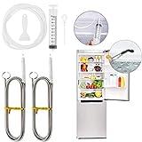 Ytesky Kühlschrank bürste, Kühlschrank Reinigungsbürste, Flexible Rohrreinigungsspirale mit Bürste, Kühlschrank Abflusslochentferner, Spülbecken-Reinigungsbürste für Zuhause Kühlschränke,6 pcs