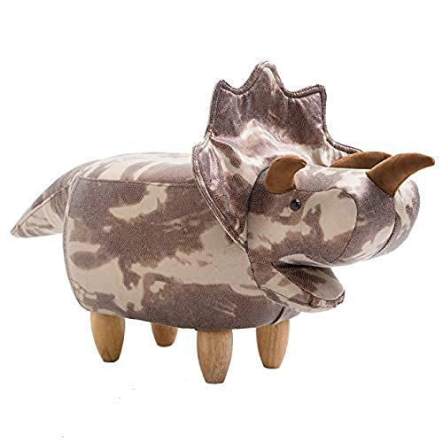 MYYINGBIN Unique Dinosaur Shaped Footstool Ottoman, Solid Wood Sofa Bench, Footrest For Living Room Office, Camouflage