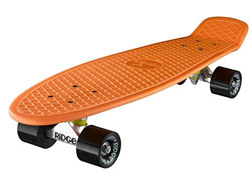 Ridge Skateboard Big Brother Nickel 69 cm Mini Cruiser, orange/schwarz