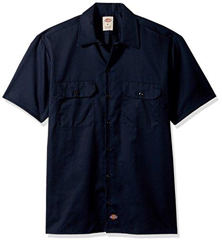 Dickies Herren Freizeithemd Shrt/S Work Shirt, Blau (Dark Navy Dn), XL