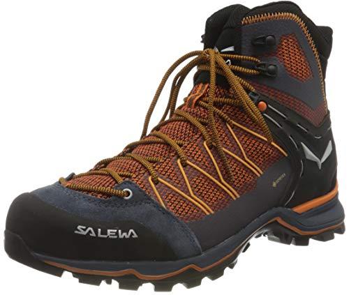 Salewa Herren MS Mountain Trainer Lite Mid Gore-TEX Trekking- & Wanderstiefel, Black Out/Carrot, 45 EU
