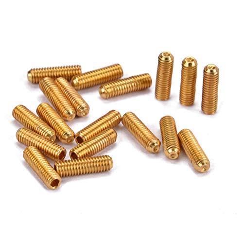 potente para casa HEALLILY 100 piezas de tuerca de puente de guitarra, tornillo ajustable en altura, 3 × 10 mm (dorado)