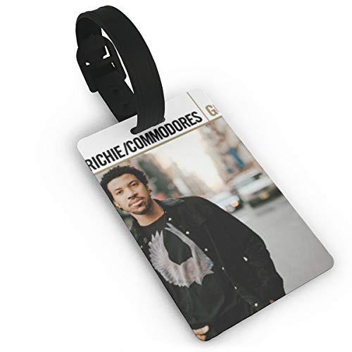 KOLODZIEJKIMM Lionel Richie Gold Luggage Tags Suitcase Tags Bag Tag Travel ID Labels Tag White One Size