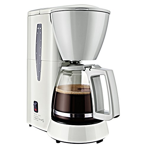 Melitta Cafetera de filtro con jarra de vidrio, Para 5 tazas de café, Single 5, Blanco, M720-1 1