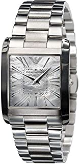Emporio Armani Super Slim Women's Mother of Pearl Dial Stainless Steel Band Watch - AR2011