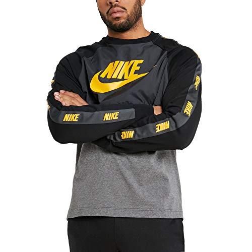 Nike Sudadera NSW Gris Amarillo
