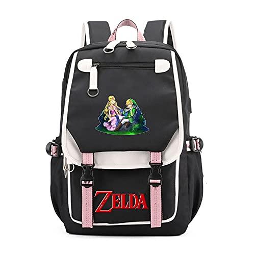 SHU-B The Legend of ZeldaZaino per ragazze, Zaino per le scuole per bambini Zaino per bambini Ideale per studenti delle scuole elementari Outdoor Daypack Borsa da viaggio per adulti
