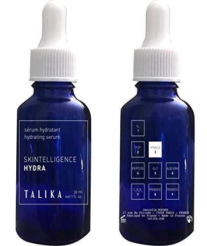 Talika Skintelligence Hydra Hydrating Serum Feuchtigkeitsspendendes Serum Gesicht - Leichtes, Regenerierendes Hyaluron Serum für einen Strahlenden Teint - Alle Hauttypen - 30 ml Flasche