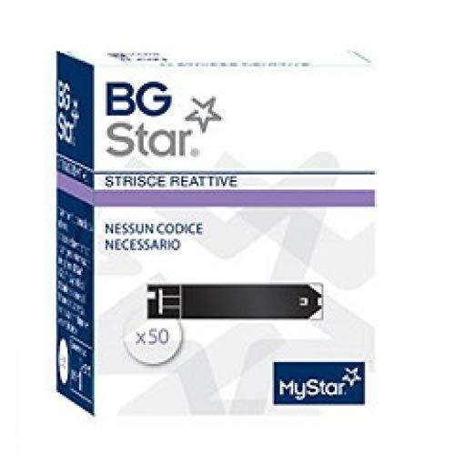 BGSTAR - 50 Strisce Reattive per il Controllo della Glicemia - BG STAR MYSTAR