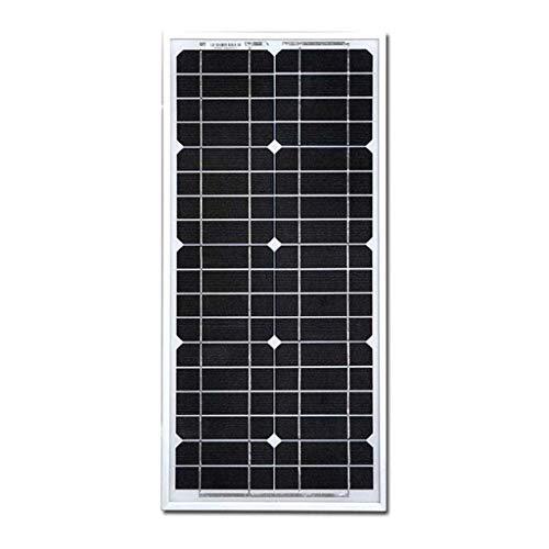 YILANJUN 20 Watt Monocrystalline Solar Panel, 12V Photovoltaic Panel Outdoor Lighting Household Power Generation, High Efficiency Module Power