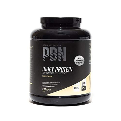 Premium Body Nutrition Whey Protein / Molkeeiweißpulver, 2,27kg Vanille, Neuer verbesserter Geschmack