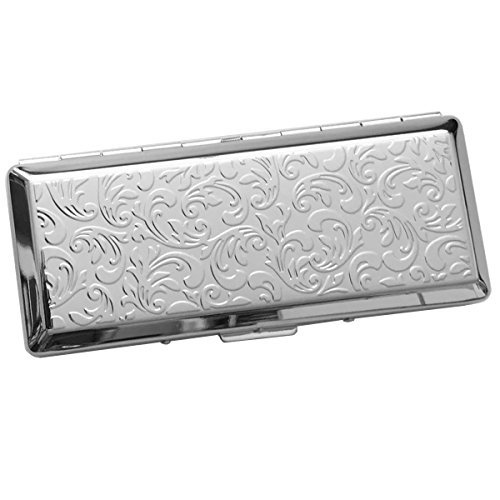 SILBERKANNE Zigarettenetui Zigarilloetui Filigran doppelseitig 4,6x10,8 cm Silber Plated versilbert Für Damen und Herren