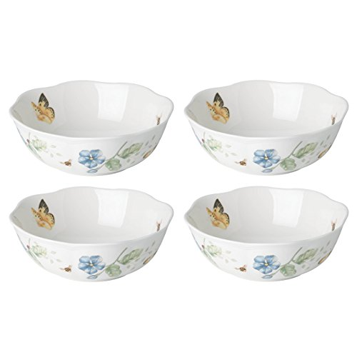 Lenox 880121 Butterfly Meadow All Purpose Bowls (Set of 4), 20 Oz, Multicolor