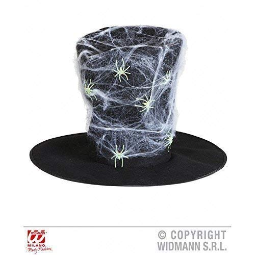 Lively Moments Cylindre/Halloweenzylinder/Chapeau Noir avec D'Araignée et Araignées pour Halloween/Carnaval/Accessoires à Kostümen