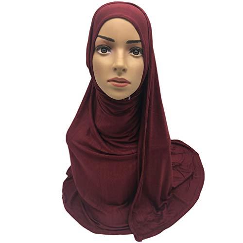 Yinew Kopftuch Turban Schals Lange Warme Wrap Schal Mode Kleidung Zubehör Für Frauen, Weinrot