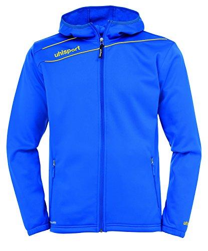 Uhlsport 100209904 Veste à Capuche Homme, Azur Bleu/mais Jaune, FR : L (Taille Fabricant : L)