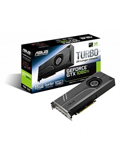 Asus Turbo GeForce GTX1080TI-11G Gaming Grafikkarte (Nvidia, GDDR5X, für bestes VR & 4G Gaming and System-Integration)