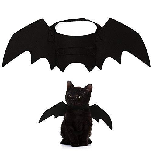 LINGJIA Halloween Juego de rol Lindo Disfraz de Gato de Halloween, pequeño Gato, alas de murciélago, alas de Gato de Halloween, Accesorios de Gato Hallowen, Decoraciones de Halloween 2018