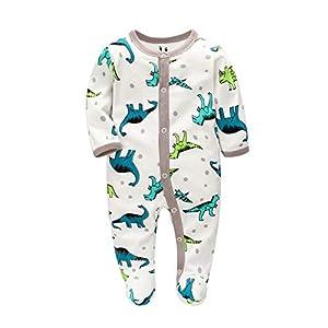 Pijama Niño Algodón, Peleles para Bebés Niña,Peleles para Dormir para Bebés 0-6 Meses (Dinosauro, 62)