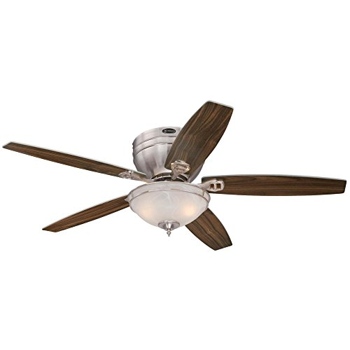 Westinghouse Lighting 7209700 Indoor Ceiling Fan, Brushed Nickel with LED Bubs