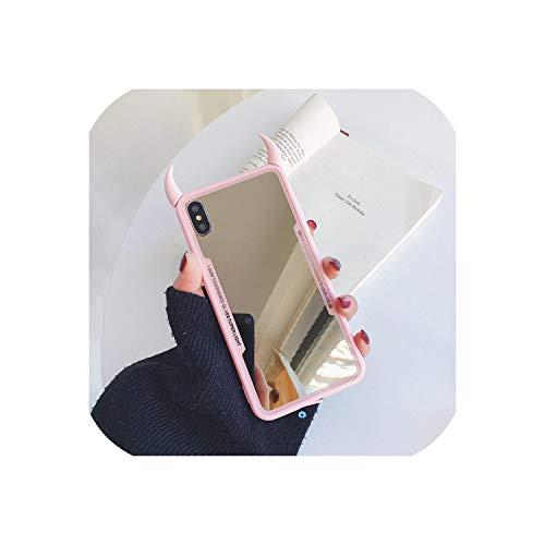 Carcasa rígida de acrílico para iPhone 7, 6, 6S, 5, 8 Plus, diseño de cuerno del diablo 3D
