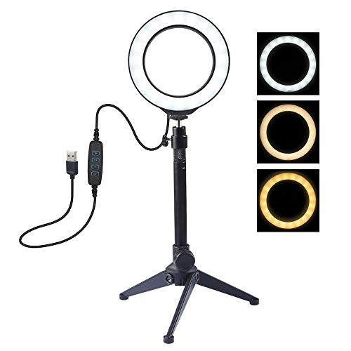 Ring Light Fill Light USB Ring Light 3 Modes can Adjust 10 Brightness, can be Used for USB Charging Ring Light, Used for Photo Light, Portrait, Fashion, Photography, Shooting Video.