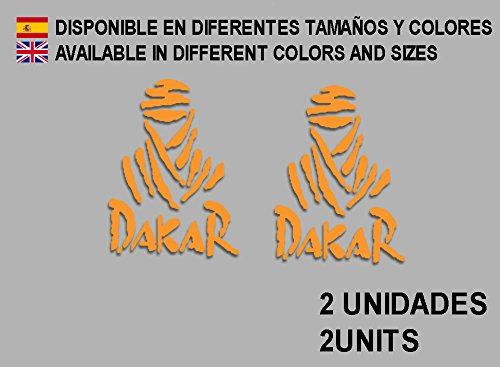 Ecoshirt EZ-7D3Y-B3IY sticker Dakar F68 vinyl sticker Decal Decal Decal Sticker MTB Bike Orange