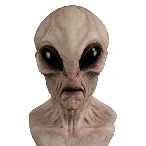 Realistic Alien Mask, Halloween Alien Mask for Alien Cosplay Costume Halloween Party, Alien 3D Full Face Mask for Adults