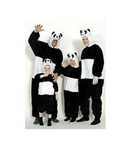 narrenkiste K312518-116-128-A schwarz-weiß Mädchen Junge Kinder Pandabär Kostüm-Overall Gr.116-128